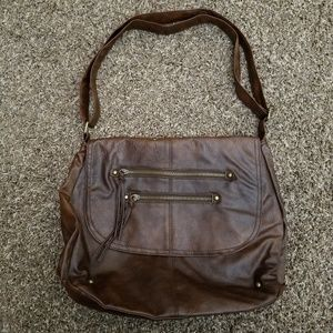 Handbags - Faux Leather Messenger Bag